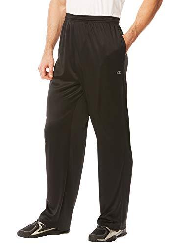 - Champion Men's Big & Tall Vapor Performance Pants, Black Tall-2XL