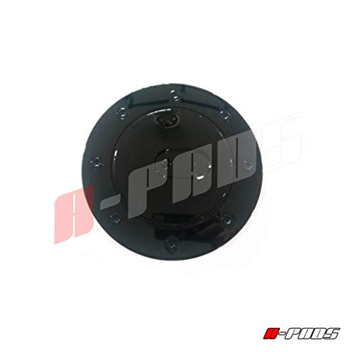 A-PADS Toyota Tundra 2007 08 09 10 11 12 13 14 2015 Black Gloss Gas Fuel Cap Door Cover