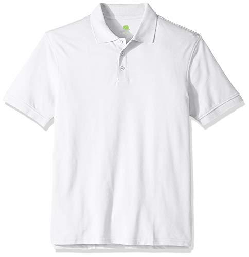 (Classroom School Uniforms Adult's Real School Unisex Short SLV Pique Polo, White L)
