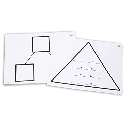 Didax DD-211763 Write-On/Wipe-Off Fact Family Triangle Mat, Addition, 9