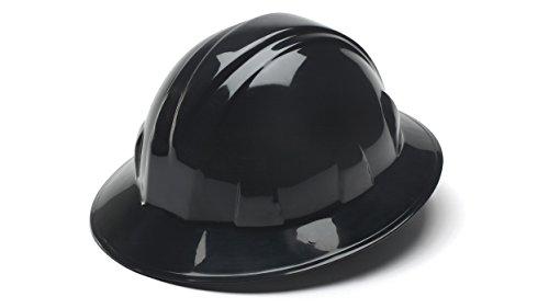 pyramex-black-full-brim-style-4-point-ratchet-suspension-hard-hat