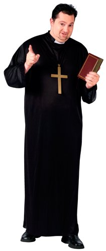 Fun World Priest Plus Size Costume, Black, Plus