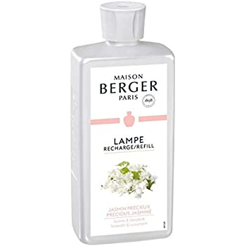 Precious Jasmine   Lampe Berger Fragrance Refill by Maison Berger   for Home Fragrance Oil Diffuser   Purifying and perfuming Your Home   16.9 Fluid Ounces - 500 millimeters   Made in France