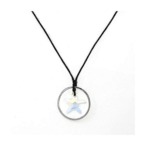 Glamorousky Simple Star Necklace with Silver Austrian Element Crystal (4417)