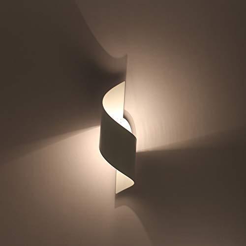 Dachengzi Ola De Aluminio Lámpara De Pared Moderna Minimalista Dormitorio Creativo Pasillo Salón TV Fondo Corredor,Black