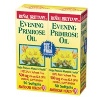 Royal Brittany Evening Primrose Oil (Evening Primrose Oil - Royal Brittany, 500 mg 2 Units / 100 soft gel)