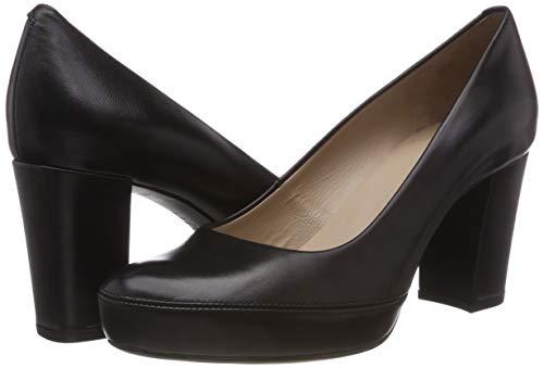 f18 de Black Numar Mujer Negro Zapatos na Black Tacón para Unisa IZ51qwPxP