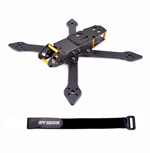 FPVDrone Skyeliner 230mm FPV Racing Drone Frame Carbon Fiber 5inch Quadcopter Freestyle Frame Kit with Lipo Battery Strap (Best Material For Quadcopter Frame)