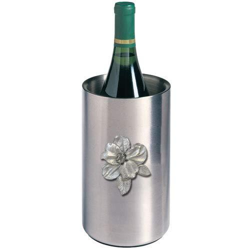 1pc, Pewter Apple Blossom Wine Chiller ()