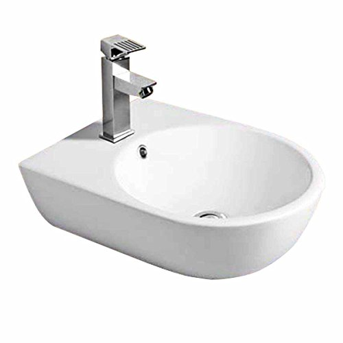 Small Wall Mount Bathroom Sink Above Counter Vessel White | Renovator's Supply