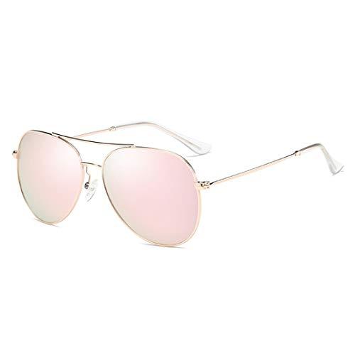 Gafas Black polarizadas Sol de Black para Frame Redondas Lens Steampunk Pink Gold Hombres Retro Gafas Lens Frame de Color Sakuldes Sol dw4qd