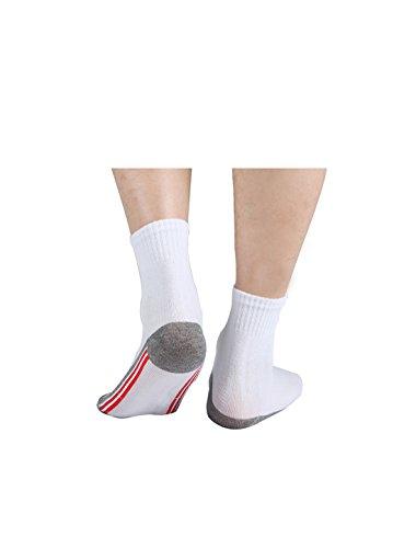 Uxcell 10 S Uomini Confezione Verticali Strisce Calze Rosso Tre Da Equipaggio Atletici Elastico rrRSpq