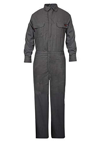 National Safety Apparel TCGSCWN00115MDRG00 Women's Tecgen Select FR Coverall, Medium, Grey