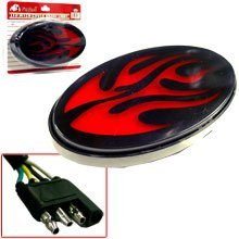 Hitch Cover Brake Light (Brake Light Cover Flame Design)