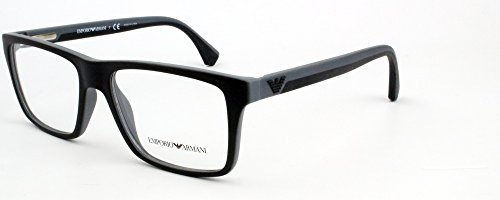 Emporio Armani EA 3034 Men's Eyeglasses Black / Rubber Grey - Armani Eyeglasses