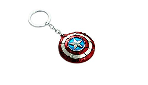 J&C Marvel Comics Captain America Civil War Shield Logo Keychain with Gift Box