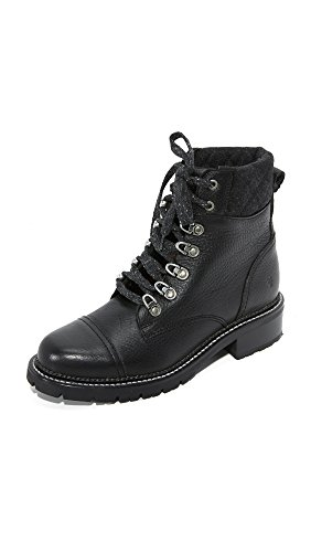 FRYE Women's Samantha Hiker Combat Boot Black