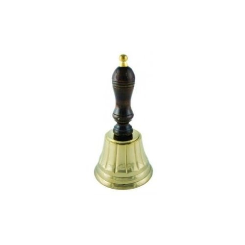 Small Solid Brass Hand Bell with Wood Handle by INsideOUT