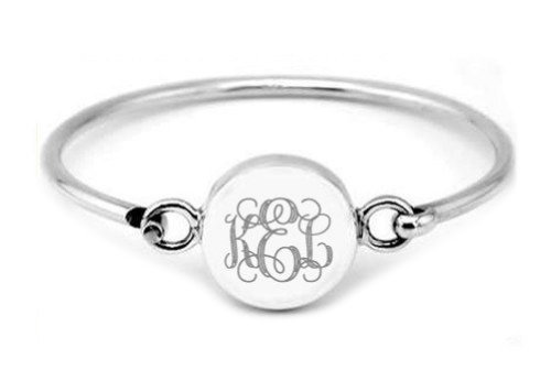- Lgu Sterling Silver Polished Engravable Round Puff Bangle Bracelet for Adult