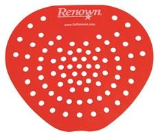 Renown REN03013-HP Flat Urinal Screen RED - Cherry Scent (24 Box PER CASE)