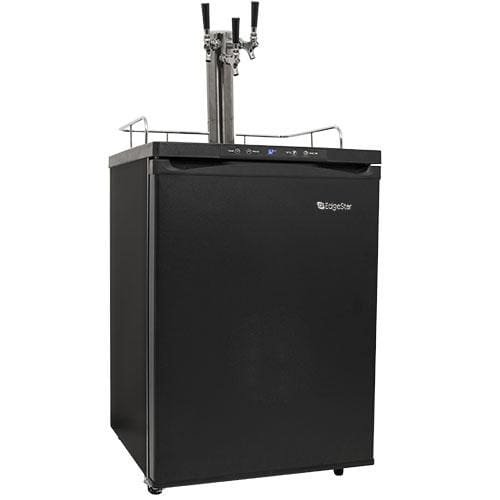 Marvel Half Keg Beer Dispenser (EdgeStar KC3000TRIP Full Size Triple Tap Kegerator with Digital Display - Black)