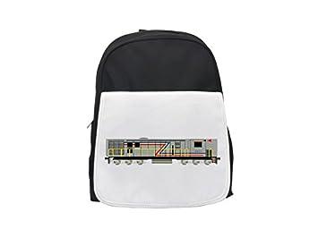 PickYourImage Mochila infantil con diseño de locomotor, bonita mochila, bonita mochila negra, mochila