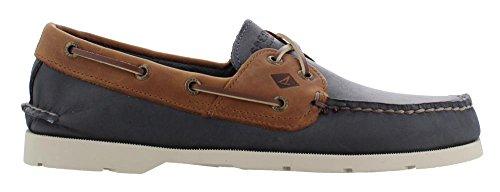 Lacing Boat Shoes - Men's Sperry, Leeward Boat Shoe NAVY TAN 9.5 M