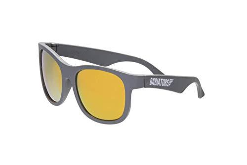 Babiators Blue Series Polarized Baby & Kids Sunglasses (0-2Y, Grey Navigator/Orange Mirror)