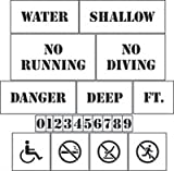 Pool Area Marking Stencils Kit - Stencils KIt - 60 mil ultraflex ind