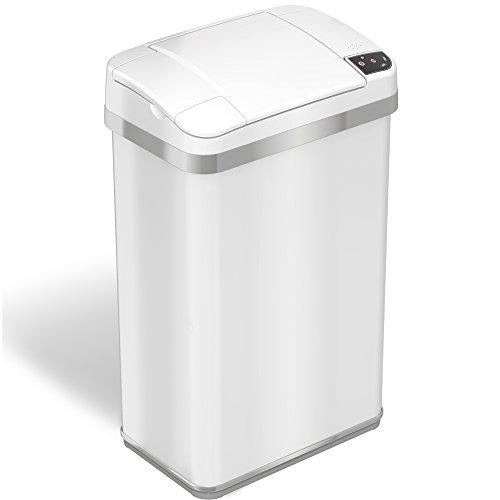 iTouchless Multifunction Sensor Matt Finish Trash Can 4-Gallon