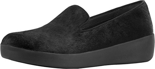 Fitflop Mujer EU Slippers Black Audrey 40 Negro para Mocasines OnrpOxvB
