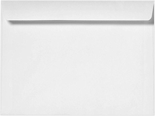 8 3/4 x 11 1/2 Booklet Envelopes - 24lb. Bright White (50 Qty.) Envelopes.com