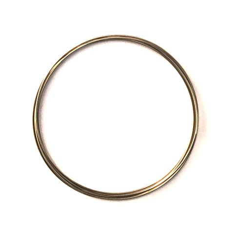 Imagine If... Memory Wire, Stainless Steel, Coil Wire Bracelets, 10 Sets, 23g, 50mm inner diameter