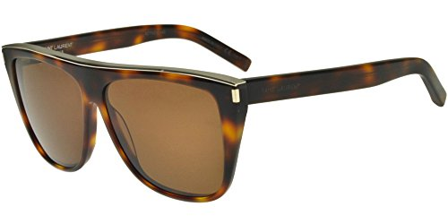 Saint Laurent SL 1 Combi 003 Havana Plastic Fashion Sunglasses Brown - Sl Sunglasses 1