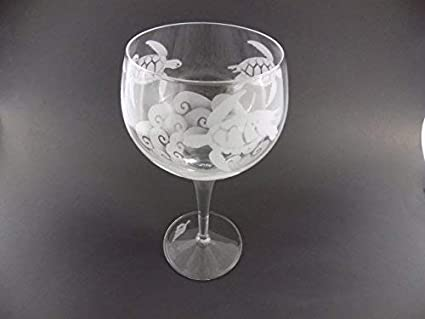 IncisoArt Hand Etched Italian Crystal Goblet Sandblasted Celtic Dragon, 340 Milliliter Sand Carved 11.5 Ounce White Wine Handmade Wine Water Glass Engraved