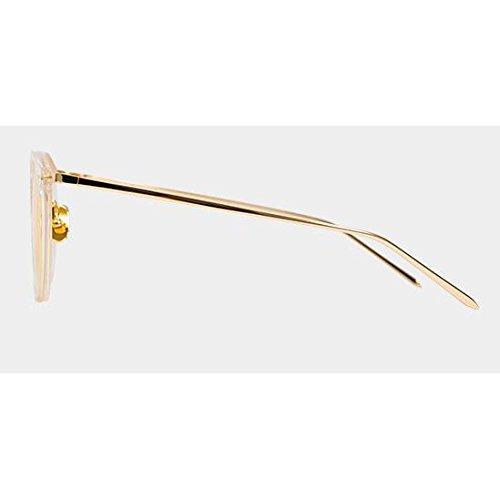Estrella Gafas para sol mujer Personalidad Vint sol de de UV400 nuevas de excursionista Gafas casuales Regalo sol Protección Gafas conducción sol libre aire UV al Protección Gafas Yellow de de de polarizadas Transparent wqZxIAUX4