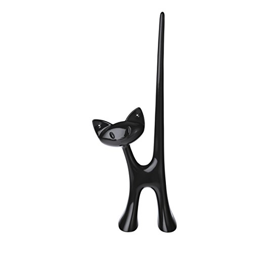 koziol MIAOU Jewelry Ring Stand, solid black