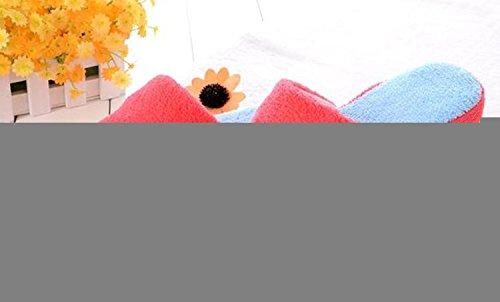 Viskey Warme Hausschuhe, Smiley, für Damen, Baumwolle Rot-2