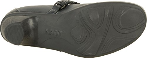 Naot Womens Forward Mary Janes Vintage Ash, Black Raven Lthr