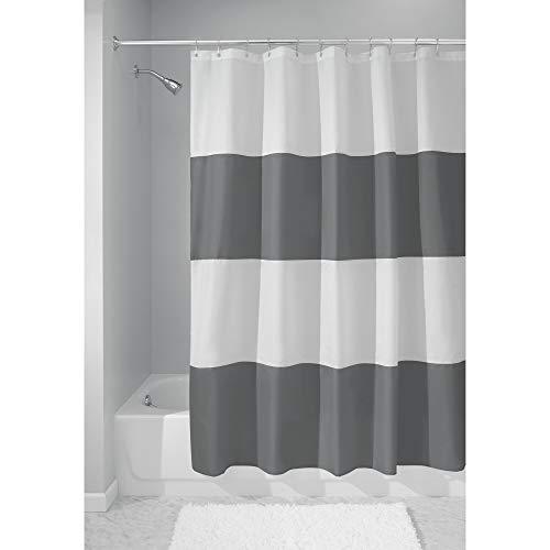 iDesign Zeno Wide Striped Shower Curtain for Master, Guest, Kids', College Dorm Bathroom, 72