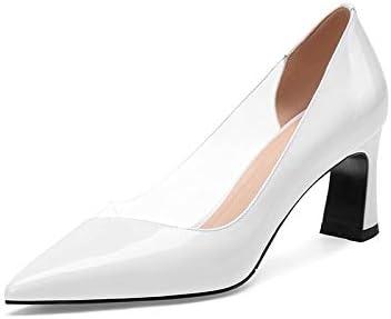 SHINIK Zapatos de Tacón Alto de Piel para Mujer de Moda 2019 Primavera  Verano Zapatos de Tacón Alto Pintados Cuatro Temporadas Solo Zapatos.  Cargando ... 8e084d5074c5