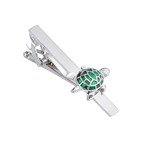 JAOPNZA Classic Cute Turtle Tie Clip Personalized Men's Tie Bar Clip Gift Set,Green by JAOPNZA (Image #3)