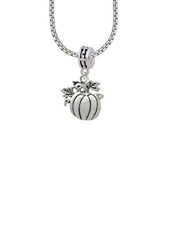 Large Antiqued Pumpkin Cross Bead ()