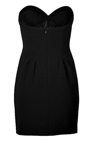 Avril Robe De Cocktail Simple Amie Glissière Au Dos Retour Aux Sources Mini-robe Raisin Noir