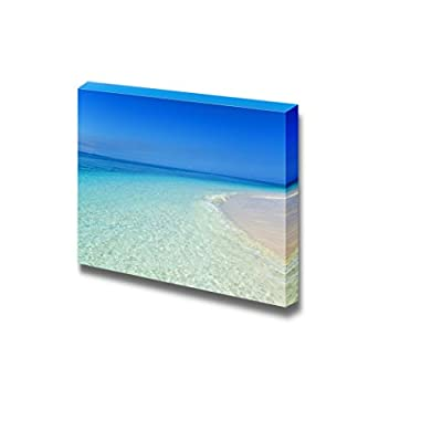 Canvas Prints Wall Art - Gorgeous Beach in Summertime Beautiful Landscape | Modern Home Deoration/Wall Art Giclee Printing Wrapped Canvas Art Ready to Hang - 24