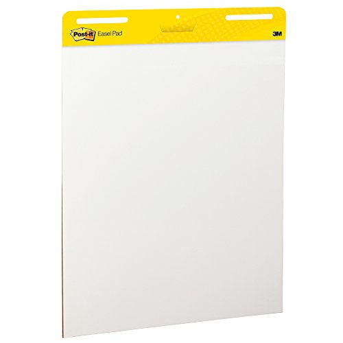 Post-it Super Sticky Easel Pad, 25 x 30 Inches, 30 Sheets/Pad, 1 Pad (559SS), Large White Premium Self Stick Flip Chart Paper, Super Sticking Power