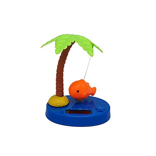 Potato001 Funny Solar Power Dancing Car Decor Solar Powered Dancing Swing Coconut Tree Fish Home Car Ornamnet Decoration Gift - Orange for $<!--$2.92-->