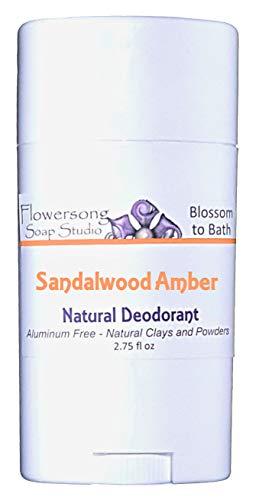 Blossom to Bath Sandalwood Amber Natural Deodorant (2.75 oz) - Irresistable Sandalwood and Warm Spice - Aluminum ()