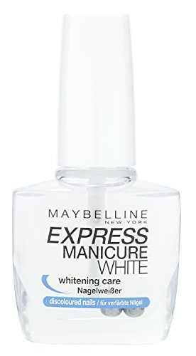 Maybelline New York Make-Up Nailpolish Express Manicure Nagellack Base Coat whitening care / Unterlack Nagelweißer für verfärbte Nägel, 1 x 10 ml