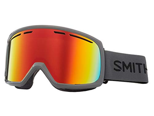 (Smith Optics Adult Range Snow Goggles,Charcoal Frame/Red Sol-X Mirror)